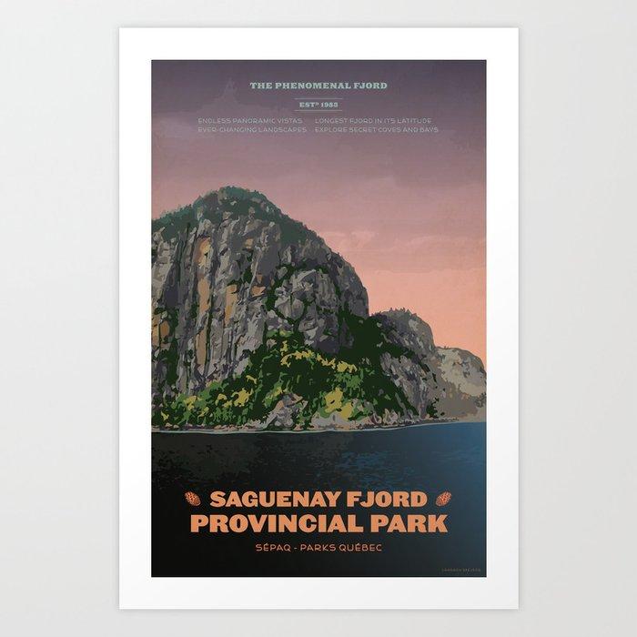 Saguenay Fjord Provincial Park Art Print