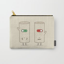 log on and log off Carry-All Pouch