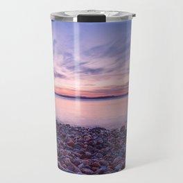 Seashore at sunset Travel Mug