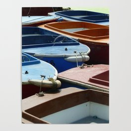 Boats On A River Poster