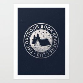 Outdoor Book Readers Club badge Art Print