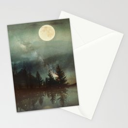 Midnight Fireflies Stationery Cards