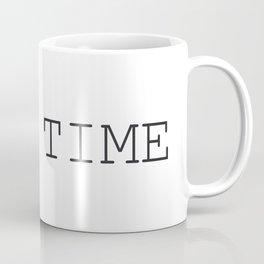 TIME Minimalist Black and White Words  Coffee Mug