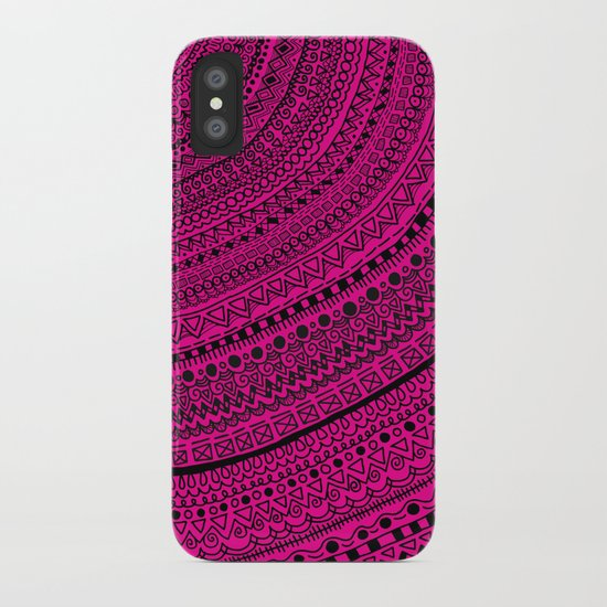 Hot Pink Pulse o4. iPhone Case