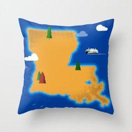 Louisiana Island Throw Pillow