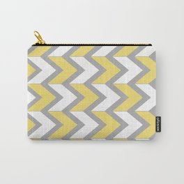Mustard Chevron Carry-All Pouch