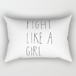 Fight like a girl Rectangular Pillow