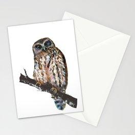 Mrs Ruru, New Zealand Morepork Owl Stationery Cards