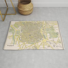 Vintage Madrid Spain Map (1901) Rug