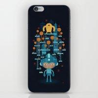 megaman iPhone & iPod Skins featuring MEGAMAN METTA by Jon Reinfurt