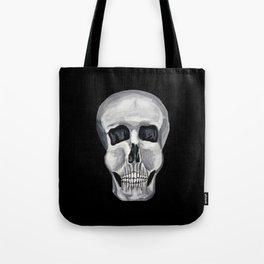Black White & Skull Tote Bag