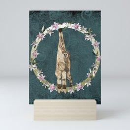 Lar Gibbon Lily Wreath Mini Art Print