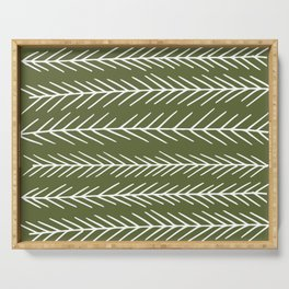 Pine Branches in Cedar Green Serving Tray
