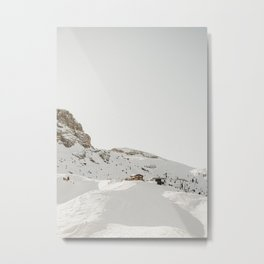 Dolomite Mountaintop Ski Chalet of Rifugio Lagazuoi | Adventurous travel prints, Northern Italy   Metal Print