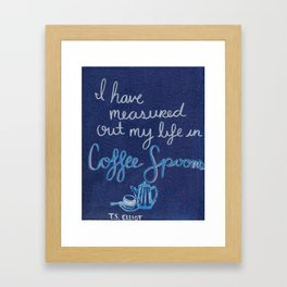 Coffee Spoons Framed Art Print