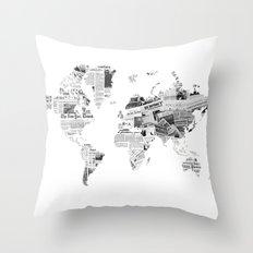World News Throw Pillow