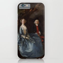"Thomas Gainsborough ""Sarah Kirby (née Bull); (John) Joshua Kirby"" iPhone Case"