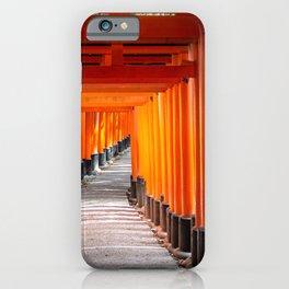 Torii gates of the Fushimi Inari Shrine in Kyoto, Japan iPhone Case