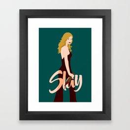Slay Buffy! Framed Art Print