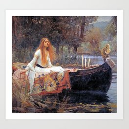 THE LADY OF SHALLOT - WATERHOUSE Art Print