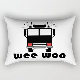Firetruck Wee Woo Rectangular Pillow