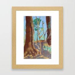 Trees Aren't Brown Framed Art Print