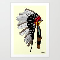 native Art Prints featuring Native  by weliketrees