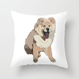Fluffy Dog Throw Pillow