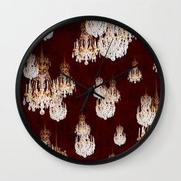 Le mur des lustres Wall Clock