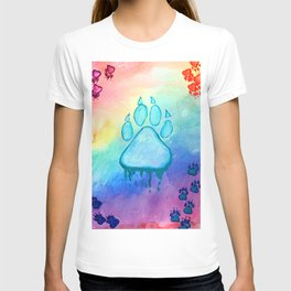 Painted Paw Prints on the Heart T-shirt