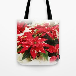 Shimmer Surprise Poinsettias Tote Bag