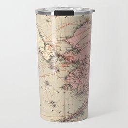 Vintage Map of Alaska and Russia (1869) Travel Mug