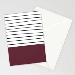 MARINERAS MAROON Stationery Cards