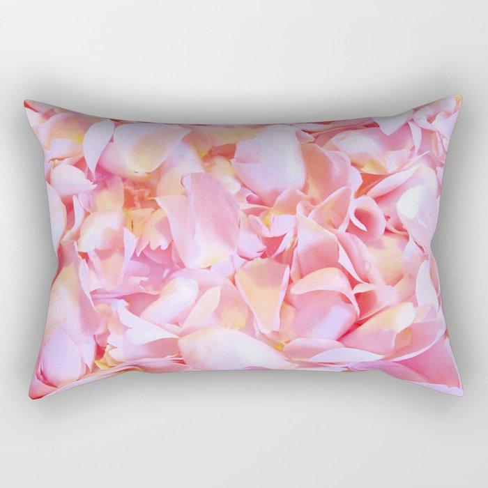 Pink flower petals - Beautiful floral rose roses background Rectangular Pillow