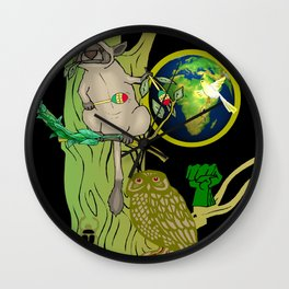 Right On For Some Peace Out Wall Clock