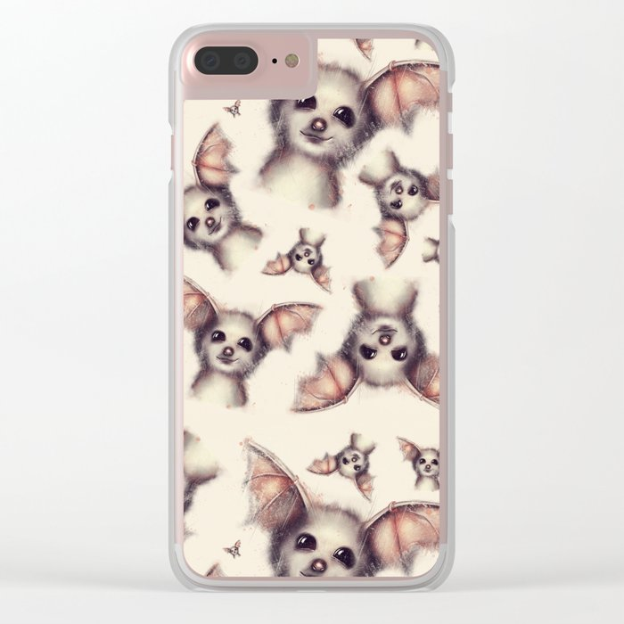 What the Fox - Pattern Clear iPhone Case