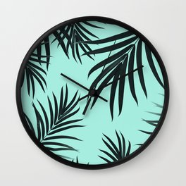 Palm Leaves Pattern Summer Vibes #7 #tropical #decor #art #society6 Wall Clock