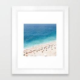 Areal Beach Photography Framed Art Print