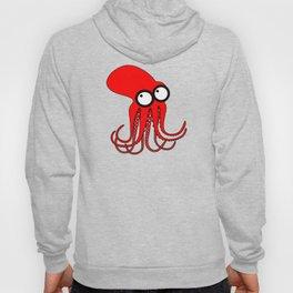 Cute Red Octopus Hoody