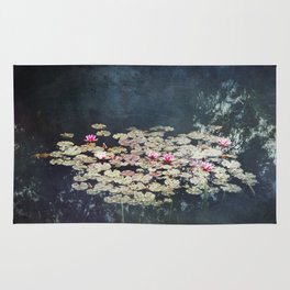 waterlilies pond Rug