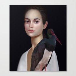 Miss Black Stork Canvas Print