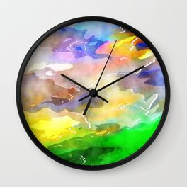 Watercolor Wash Art Wall Clock