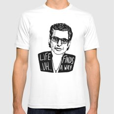 Life .. uh .. Finds a Way White Mens Fitted Tee MEDIUM