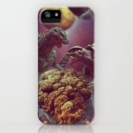 Godzilla VS Gamora  iPhone Case