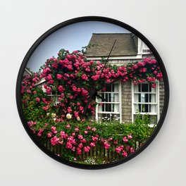 Rose House in Sconset Nantucket Wall Clock