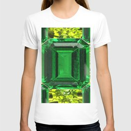 EMERALDS &  LIME GREEN PERIDOT GEMS BIRTHSTONES T-shirt
