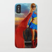 supergirl iPhone & iPod Cases featuring Supergirl by Shana-e