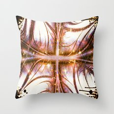 Covered In Triumph Gold Sparkle Throw Pillow