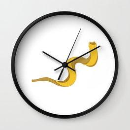 Jewish shofar yellow gold Wall Clock