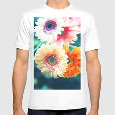 Sunny Love III MEDIUM White Mens Fitted Tee